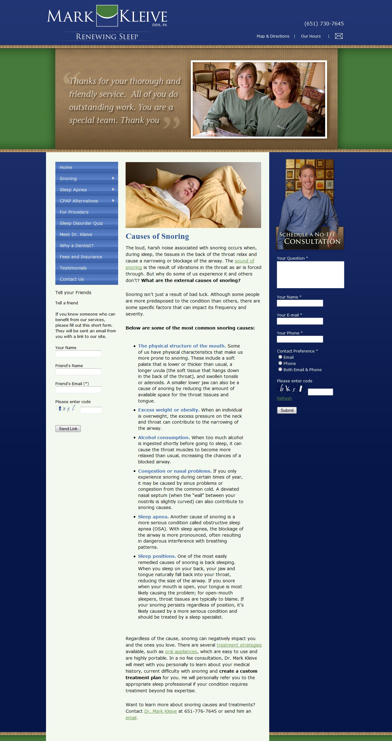 Web Content: Sleep Apnea Dentist