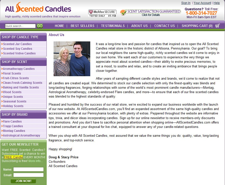 Web Content: Scented Candles