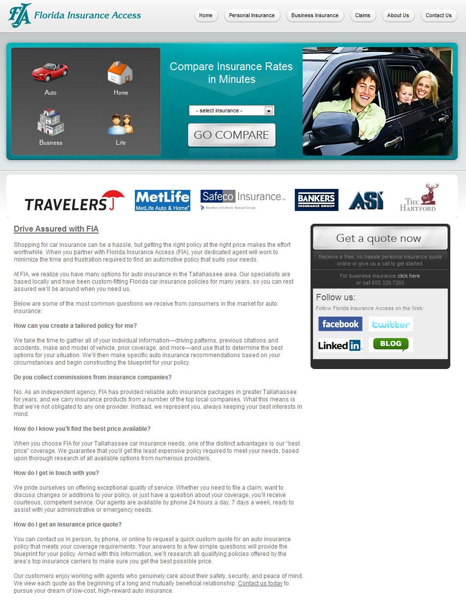 Web Copy: Florida Auto Insurance