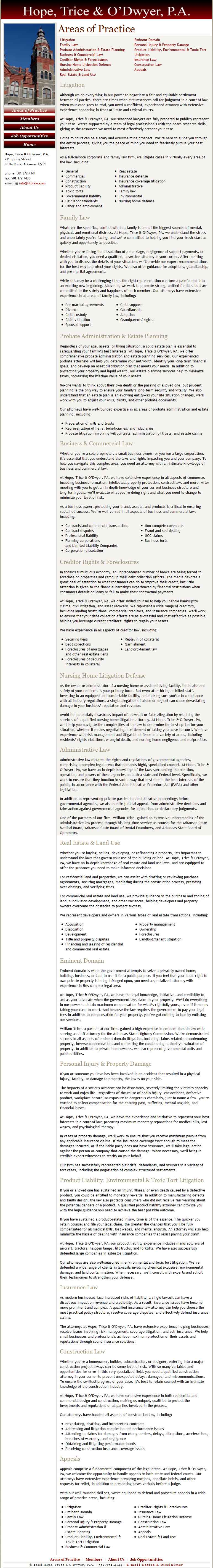 Web Content: Legal Services