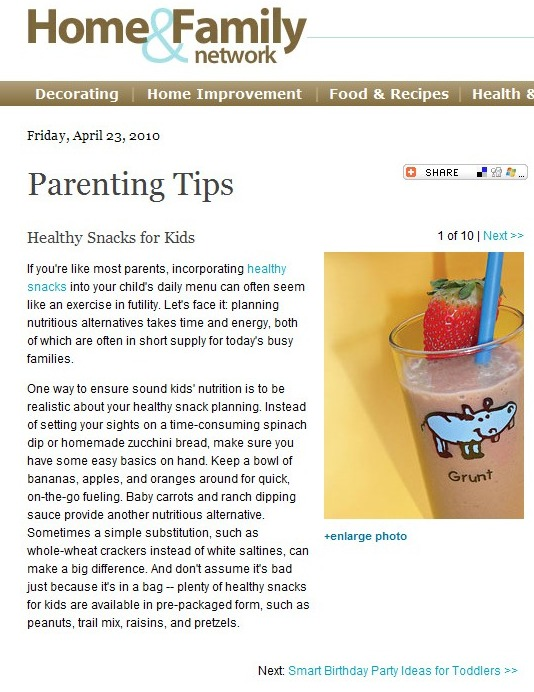 Food Article: Healthy Snacks for Kids