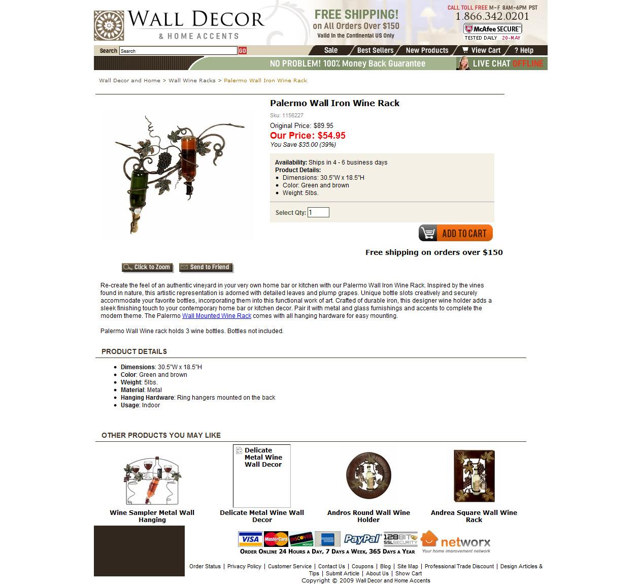 Product Description: Wine Rack