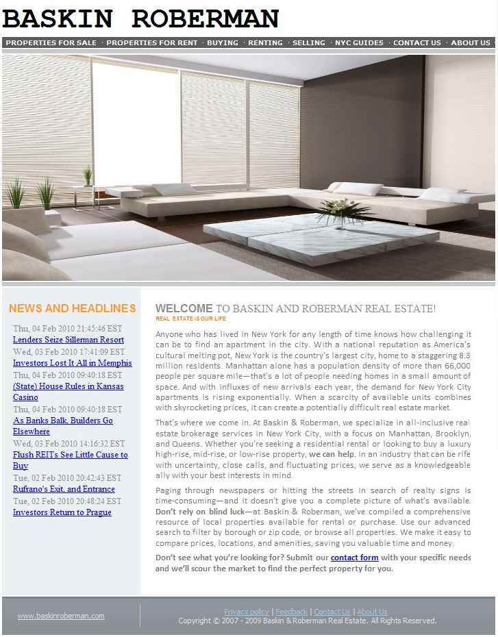 Web Copy: New York Real Estate