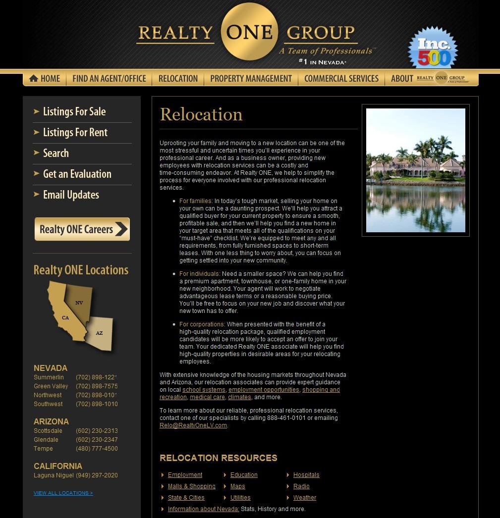 Web Copy: Real Estate Relocations