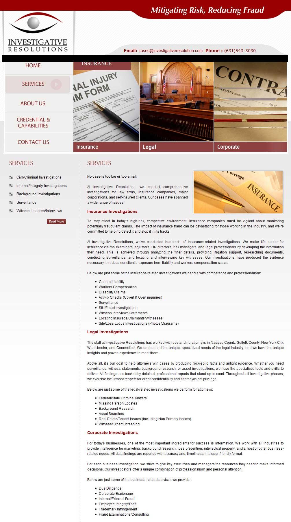 Web Content: Legal Investigations