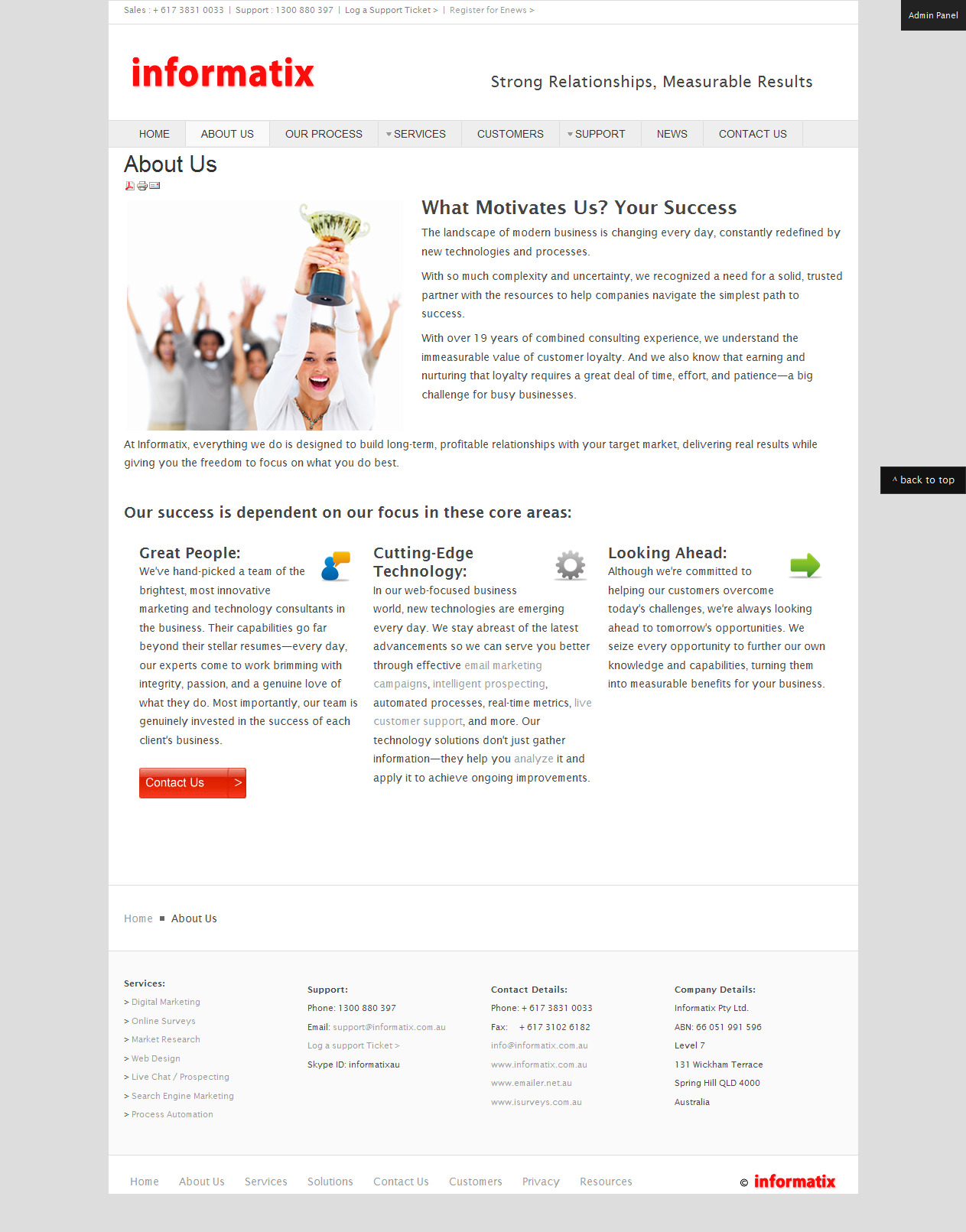 About Page Copy: Business Services