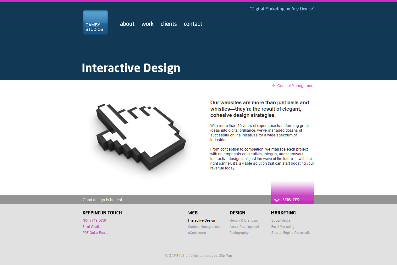 Home Page Copy: Gamby Studios