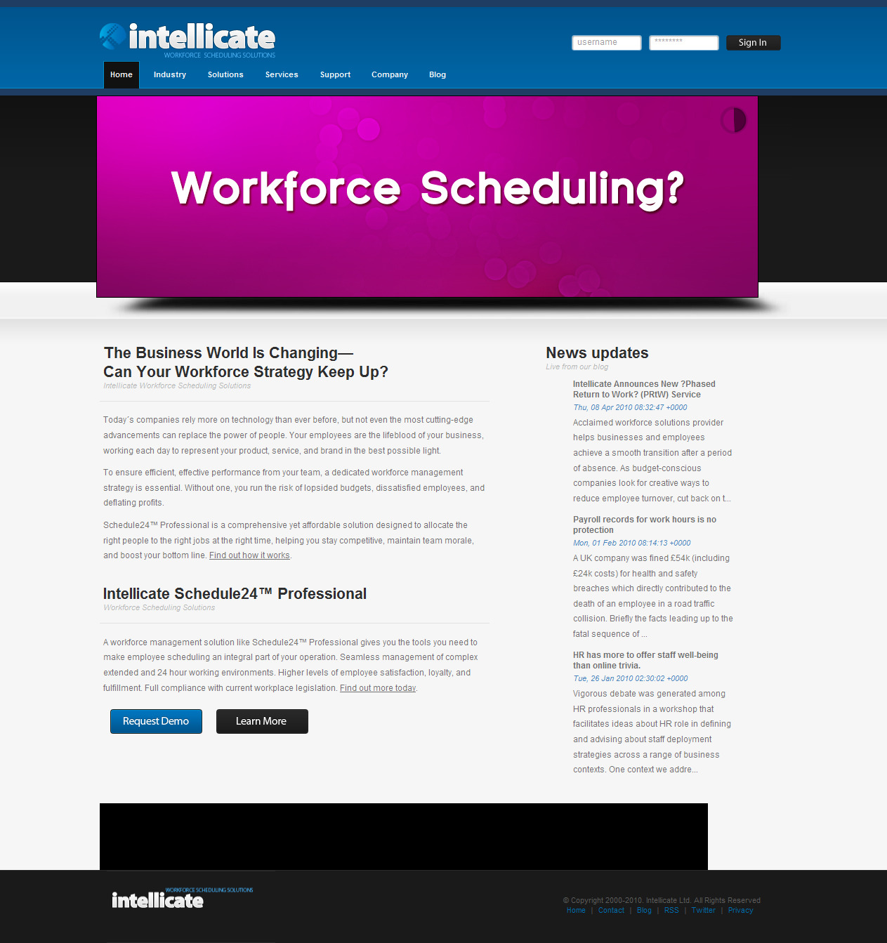 Web Copy: Scheduling Software