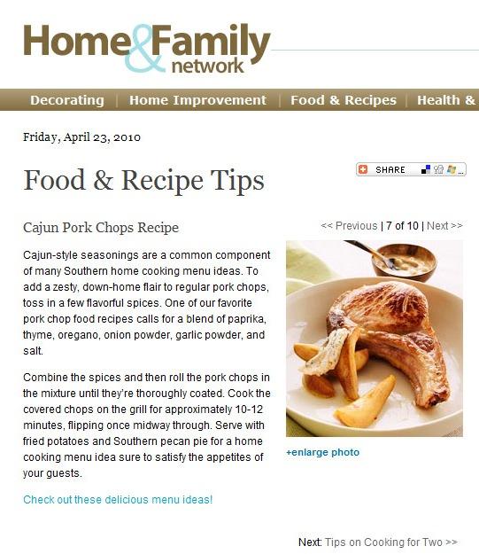 Recipe: Cajun Pork Chops